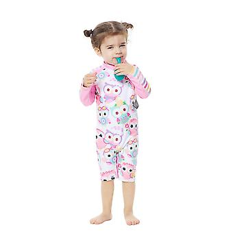 Bonverano Baby Girls One Piece Sun Protection Long Sleeves Zipper Sunsuit