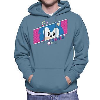 Sonic The Hedgehog Valkoinen Polka Dot Men's Huppari