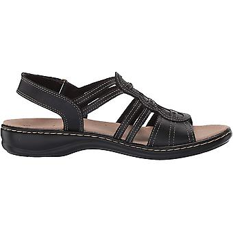 Clarks Women's Shoes 26147661 Leather Open Toe Casual Slingback Sandals