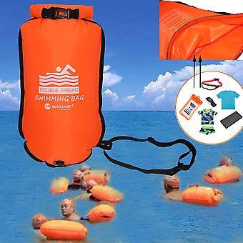نفخ السباحة عوامة سحب تعويم كيس الهواء الجاف المزدوج مع حزام الخصر
