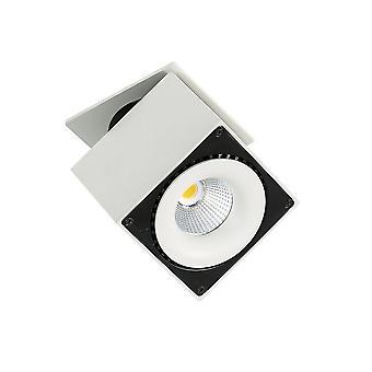 Moderne technische LED verzonken plafond wit, zwart, warm wit 3000K 2350lm