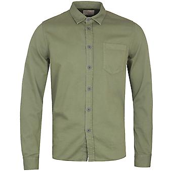 Nudie Jeans Co Henry Pigment Dyed Green Shirt