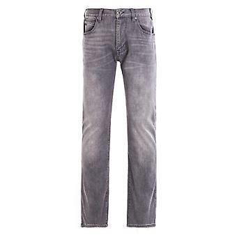 Emporio Armani J45 Regular Fit Denim Nero Jeans