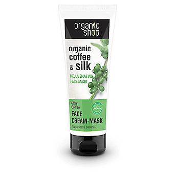 Organic Shop Rejuvenating Coffee and Silk Face Mask