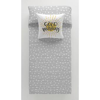 Reversibel sengeteppe Lars Grey Cool Barn/Bred enkeltseng (200 x 260 cm)