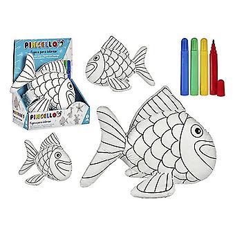 Craft Game Fish Zwart Wit (11 x 26 x 21 cm)