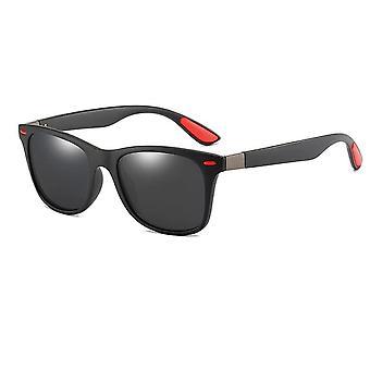 Mænd / kvinder Classic Square Plastic Kørsel solbriller mandlige mode sorte nuancer