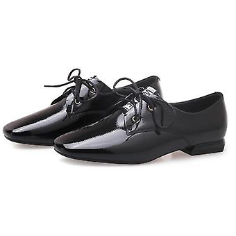 Moda Morbida Vernice Pelle Splendente Piatto Oxford Casual Shoes