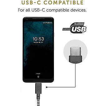 Native Union Belt Cable USB-C to USB-C - 8ft Ultra-Strong Cable with Leather Strap