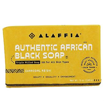 Alaffia Authentic African Black Bar Savon Triple Milled Charcoal Reishi