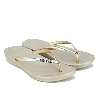 Women's Fit Flop Iqushion Ergonomiska Flip Flops i guld