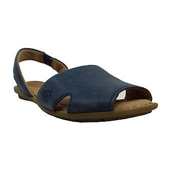 Born Womens KIBBEE Leather Peep Toe Beach Sport Sandals