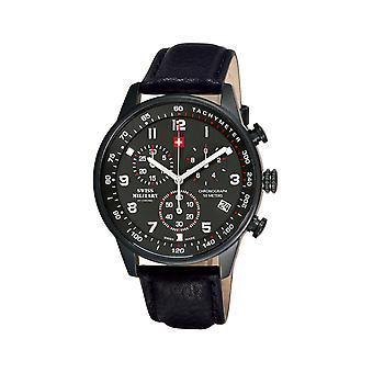 Reloj masculino militar suizo por Chrono SM34012.08, cuarzo, 41 mm, 5ATM