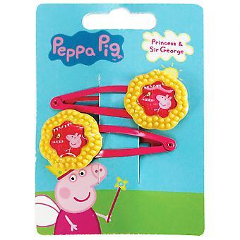 Hair clips Peppa Pig Girls Yellow / Fuchsia 2 Pieces