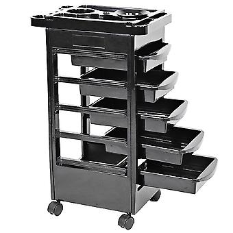 Drawers Hair Salon Trolley Cart Instrument Storage Adjustable Height Supplies