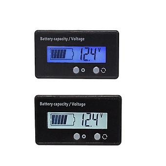 LCD DC 6-63V Battery Tester Voltage and Capacity Measure 3.2V 3.7V Lithium 12V Lead-acid Battery 24V