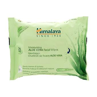 Moisturizing Aloe Vera Facial Wipes 25 units