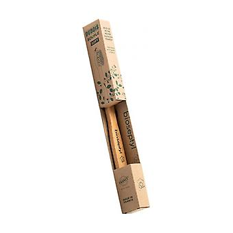 Adult wooden toothbrush - soft 1 unit
