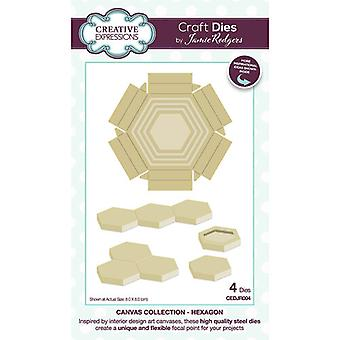Creative Expressions Canvas Collection Cutting Dies - Hexagon