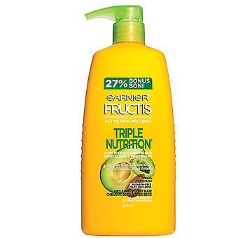 Garnier Fructis triple nutrición fortificando acondicionador con aguacate, aceites de oliva y almendras, 792ml