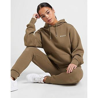 New Nicce Women's Small Logo Overhead Hoodie from JD Outlet Green