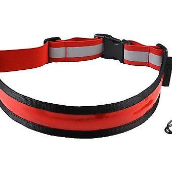 Cintura riflettente a led ricaricabile con luce di avvertimento impermeabile da corsa notturna