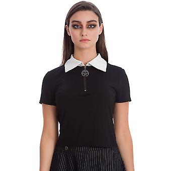 Banned Apparel Haunted Doll Gothic Top