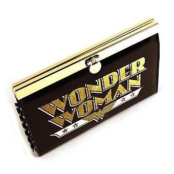 ワンダーウーマン レトロ メタル フレーム パテント クラスプ財布