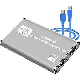 Rybozen 4K Audio Video Capture Karte, USB 3.0 HDMI Video Capture Gert, Full HD 1080P fr