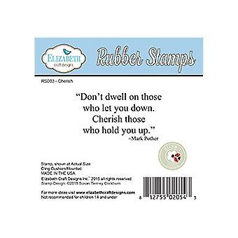 Elizabeth Craft Designs Don't Dwell Red Rubber Stamp