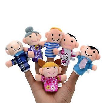 Jeu de rôle d'enfant de jouet de marionnette de doigt animal placé 6pcs/10pcs