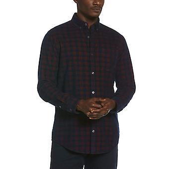 Original Penguin Woven Long Sleeve Yarn Dye Cord Shirt - Dark Sapphire