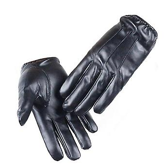 Driving cool men's luxurious leather winter gloves