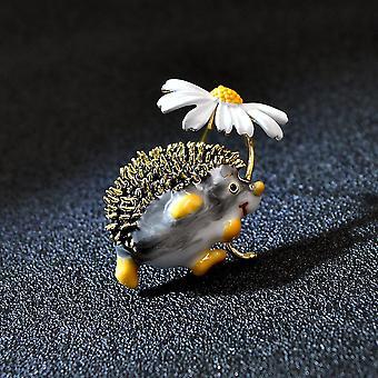 Cute Hedgehog Brooch Fashion Daisy Broches