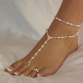 1 Set Fashion Pearl Anklet Women Ankle Bracelet Chain Foot Jewelry