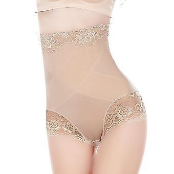 Kvinder Sexy High Waist Undertøj Slankende Shapewear Trusser Thin Mid-Lumbar Abdomen Hips Lace