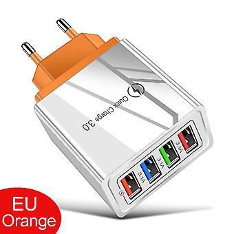 4 USB-kortplats snabbladdning 3.0 snabbladdning Eu Plug Power Wall Adapter