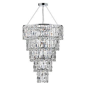 DAR ESCALA Ronde Kristallen Hanglamp, 6x E14