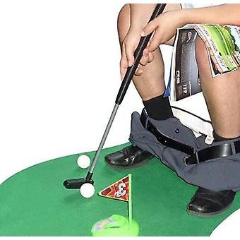 FengChun Toiletten Golf Set, 6-teilig, Golfschlger, ca. 62 cm,Tpfchen Putter Badezimmer Spiel