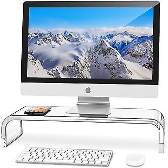 FengChun Monitorständer Bildschirmständer für PC, Acryl Monitor Ständer Erhöhung Fernsehtisch für