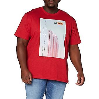 s.Oliver Big Size 131.10.003.12.130.2041009 T-Shirt, Red Print, XXXL Men's