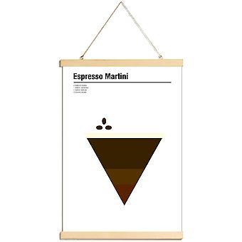 JUNIQE Print - Espresso Martini - Kaffe Plakat i Brown & Cream White
