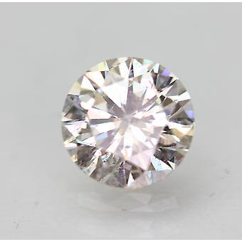 Certified 0.50 Carat H VS2 Round Brilliant Enhanced Natural Loose Diamond 5.15mm