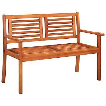 vidaXL 2 sièges banc de jardin avec 120 cm bois massif Eucalyptus