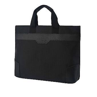 Tragbare Datei Tasche Büro liefert Reißverschluss Tasche Canvas Aktentasche einfache Notebook Tasche Falten Gusset