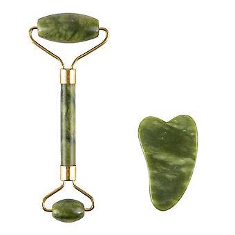 2pcs Jade Massage Roller Set