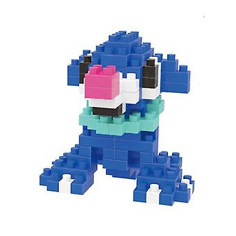 Popplio Building Blocks Puzzle Micro 3d Figures Educational Brick Toys Bleu foncé