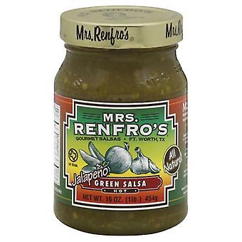 Mevrouw Renfro Salsa Green Hot, Koffer van 6 X 16 Oz