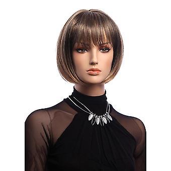 Short straight full wig elegant bobo synthetic wigs 12 inch