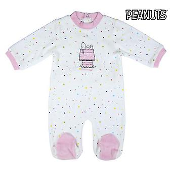 Baby's Long-sleeved Romper Suit Snoopy Pink